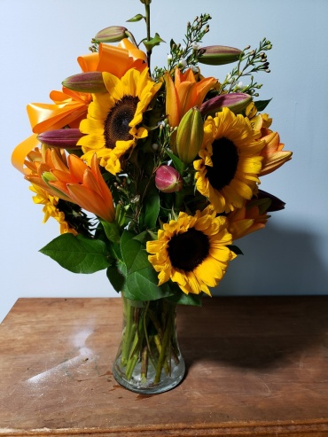 Simply Sunflowers and Lilies