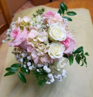 Hydrangea and Roses-Pink