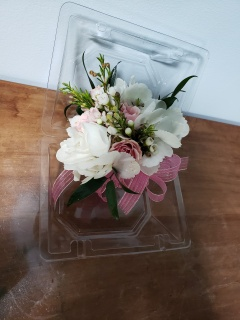 Hydrangea and Spray Rose Corsage